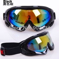 Free Shipping Promotion Kid Ski Goggles Multi Color Single Lens UV-Protection Winter Snow Children's Goggles Child Glasses 038