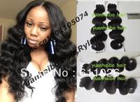 wholesale pure peruvian remy virgin human hair weft 1b# body wave 3pcs/lot free shipping