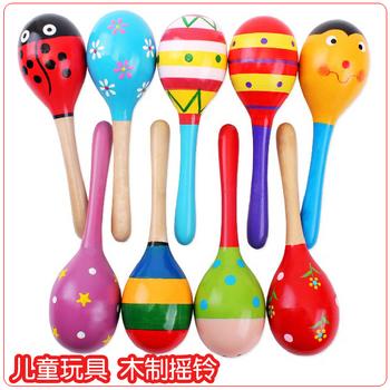 Sand hammer/sand ball wooden educational toys for children educational toys training hearing hand grip strength