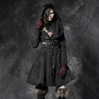Punk rave2013 winter twinset down wadded jacket female