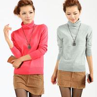 2013 loose turtleneck basic shirt long-sleeve sweater outerwear female basic sweater