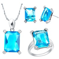 Free shipping, 925 Silver jewelry sets Austrian crystal elements, fashion jewelry women European and American style T151