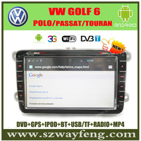"Android 8"" VW PASSAT/POLO/GOLF 6/TOURAN Car DVD GPS with 512M RAM,Canbus Radio BT IPOD+(Optional DVB-T,3G,Wifi )+Free shipping!"