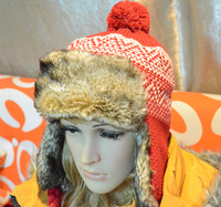 Free shipping 2013 new autumn and winter fashion imitation rabbit hair thick snowflake braid hat