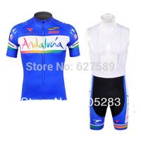 Free Shipping!2012 andalucia Cycling Jersey Short Sleeve and bib shorts Cycling Clothing Cycling Team Sports 7031445MONTONciclis