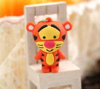 New 4GB-32GB Cartoon Enough Cheap Cute Tiger USB 2.0 memory flash stick pen driv