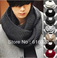 New 2013  autumn and winter the day warm wool knitted collar scarf