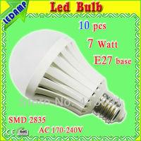 22 epistar smd 2835 leds e27 plastic shell bulb lamp light _ac 170-240v golf ball light bulbs warm white/nature white/cold white