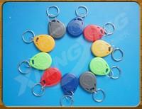100pcs/lot  EM4305 Chip Read/Write 125Khz RFID Tag ID Token Tag Keyfob Key (Blue, Black, Yellow,  Green, White)   Free shipping