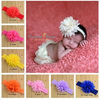 Chic Triple Flower Headbands Baby Headbands Newborn Infant Floral Topknot Hairbands Headwear Free Shipping 10pcs HYS15