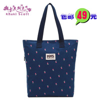 Khaki new arrival women's handbag 2013 print shoulder bag canvas bag shopping bag