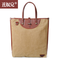 Canvas bag 14 formal briefcase laptop bag women's one shoulder handbag male women's handbag shopping bag