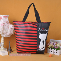 Fashion cartoon 2013 kitten female canvas travel bag portable shopping bag shoulder bag
