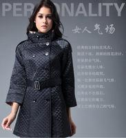 Plus size Free shipping coats women new 2014 Autumn Winter Brand fashion plaid coat women wholesales#Y148055