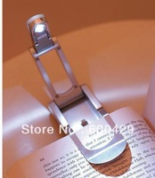 200Pcs/lot FLED Clip on Adjustable Book Reading Light Super Bright Can Folding Free Shipping
