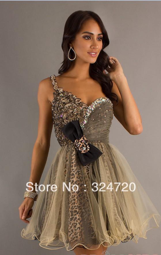 Short Cheetah Prom Dresses - Long Dresses Online