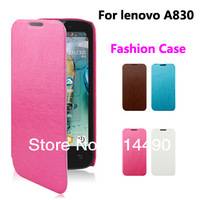 Fashion protective cover luxury pu leather case For lenovo A830 mobile phone high quality free shipping