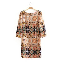 2013 Lady New Elegant  Half  Sleeve Fashion O-Neck  Dress  L36