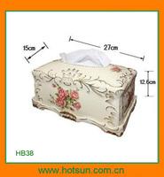 Elegant design porcelain modern napkin box HB38