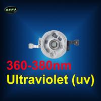Free ship 360nm  UV led chip UV led Bead Ultraviolet (uv) light UV  5pcs lot