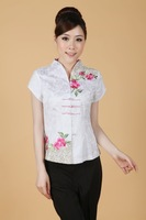 Free shipping Fashion charm peony embroidery tang suit women's summer chinese style top tang suit cheongsam top female shirt