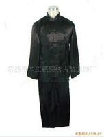 Free shipping Tang suit set tang suit top male tang suit set kung fu shirt black