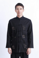 Free shipping Male outerwear spring and autumn long-sleeve top black-and-white fluid reversible top kung fu shirt
