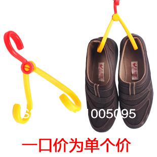R8610/2pcs/lot Hanger double hook folding drying rack coat hooks hanging shoe rack portable travel storage clothes hook hanging(China (Mainland))