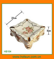 Elegant design porcelain soap holder for bathroom sets HB104