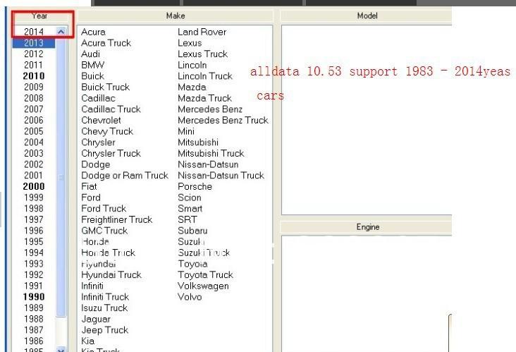 2013 Alldata 10.53 Auto repair software Free shipping 2014 ALLDATA 10.53 + 2013 new mitchell ondemand+750GB HDD(China (Mainland))