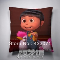 wholesale&retail cartoon Despicable Me agnes gru cartoon anime cushion pillow 50*50cm plush fabric double sides  printing