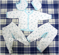 Winter Fashion Cotton Baby Underwear Five-piece set Newborn Gowns Suit Baby Wear Free Shipping