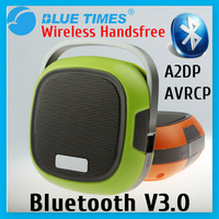 Green Portable Mini Wireless Bluetooth V3.0 Speaker with Microphone Mic Car Handsfree Kit Free Shipping Xmas Gift