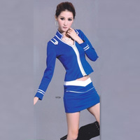 Free Shipping Ktv tooling spa foot service massage work wear 2013 long-sleeve stewardess uniforms temptation service technician