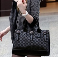 2013 New Items High quality handbag Chessboard plaid women tote bag Elegant lady shoulder bag Free Shipping