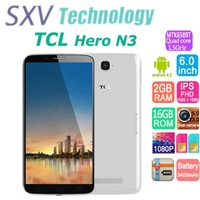 "6.0"" TCL Hero N3 Dual Sim Mobile Phone Android 4.2 MTK6589T Quad Core 1.5GHz 2GB/16GB 2.0MP/13.0MP Bluetooth Wifi GPS 1920*1080"