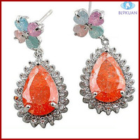 elegant design beautiful zircon charm earrings