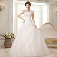 Wedding dress 2013 sweet vintage bandage tube top princess bride wedding dress lace