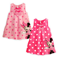 Cartoon 2013 MICKEY MOUSE bow round dot one-piece dress c350