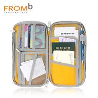 Fromb passport bag ticket folder passport cover multifunctional long design credential pocket passport holder