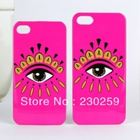 Newest KENZOS Sexy Big Eyes Case For iphone4 4s 4g Plastic Hard Cover For iphone 4 4s 4th With Retail Box Free Shipping