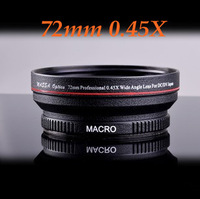 Free shipping HK Post 72mm 0.45X Wide Angle Lens with Macro Conversion Lens for Nikon Canon Sony Pentax