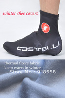 Free shipping 2013 black castelli winter thermal cycling shoes covers thermal fleece cycling shoes covers all in stock