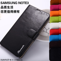 For samsung   note3 genuine leather mobile phone case cell phone n9005 protection case 9002 oil waxing leather set