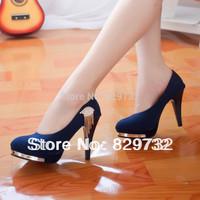 Free shipping 2014 women pumps Fashion high-heeled shoes women's shoes single thin heels shoes slip-resistant