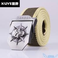 Skull canvas belt male casual canvas strap cloth tape socks  belt for man