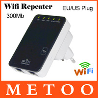 1Pcs Free Shipping High Quality Wirlesss Network 300Mbps EU US Plug WiFi Router Repeater/Ap W/ Wps WIfi Repeater