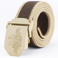 Strap male fashion canvas belt jeans belt Men teenage lengthen cloth  belt for man