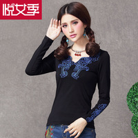 tage Shirts Women Long Sleeve Shirt Autumn Slim Embroidery Shirt Top Women Blouses