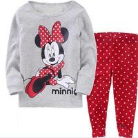 Cartoon Minnie Mouse Pattern Baby Pajamas, Kids underwear, children's Pajamas Suits, Girls/boys Long-sleeved homewear sets
